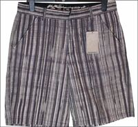 "Bnwt Authentic Men's Oakley Striped Casual Shorts W30"" New Black"