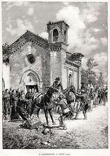 1849:GARIBALDI E GARIBALDINI A RIETI DOPO LA CADUTA DELLA REPUBBLICA ROMANA.1892