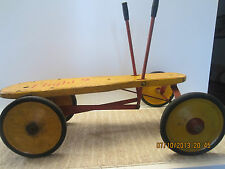 """ANTIQUE HAND OPERATED TWO PUMP """"4 WHEEL CART"""""""