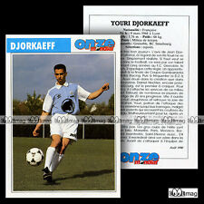 DJORKAEFF YOURI (RC STRASBOURG) - Fiche Football 1990