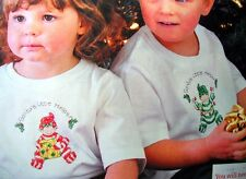 2 Christmas Elves Picture or Soluble Canvas Children Cross Stitch Pattern OOP