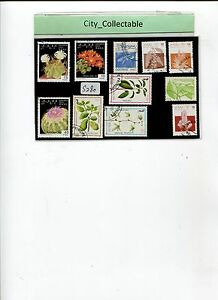 11 PCS FLOWERS USED STAMPS # S280