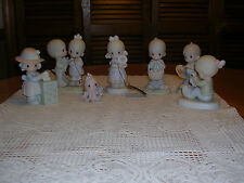 (8) PRECIOUS MOMENTS FIGURINES ALL IN BOX BUT 1-EXCELLENT USED CONDITION