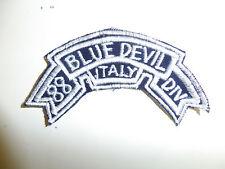 b3908 WW2 US Army Blue Devil 88th Division tab Italy dark blue A6B17