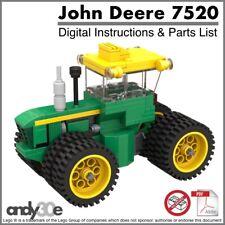 Lego MOC Instructions I John Deere 7520 4WD Tractor I City Town Farm Vehicle