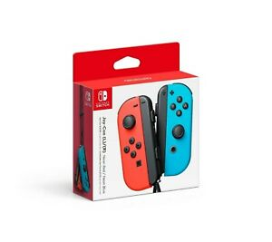 NINTENDO SWITCH JOY-CON CONTROLLERS PAIR NEON RED & NEON BLUE BRAND NEW IN BOX