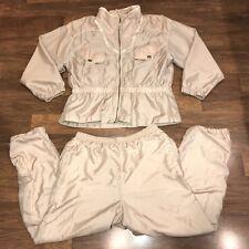 Vtg 80s 90s Gold LARGE Westport WINDBREAKER Jogging TRACK SUIT Coat Jacket Pants