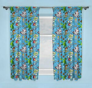 """Disney Toy Story 4 Rescue Curtains 66"""" X 54"""" Readymade Childrens Bedroom Nursery"""