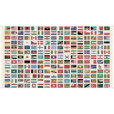 WANDERLUST~QT FABRIC PANEL~FLAGS OF THE WORLD~MULTI~26767-x~DAN MORRIS