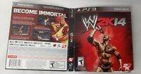 BOX ART FOR WWE 2K14 PlayStation 3 PS3 2013 - NO GAME INCLUDED