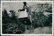 France, Aix les Bains, téléphérique du Mont Revard Vintage silver print Tirage