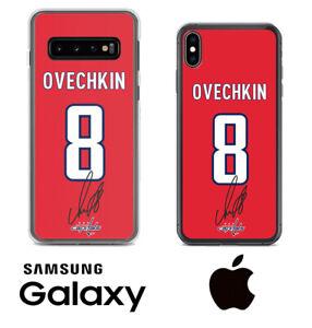 Alex Ovechkin Capitals Samsung iPhone Jersey Phone Case Facsimile Autograph