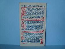 Vintage 1951 Postmarked THE MARINE'S HYMN POSTCARD