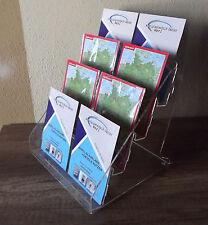 Postkartenständer aus Acrylglas,4Fächer,Display,Präsentationshilfe