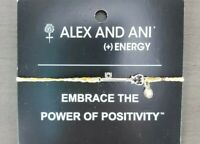 ALEX and ANI Skeleton Key Precious Threads Bracelet 925 Sterling Silver, Yellow