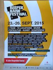 REEPERBAHN FESTIVAL 2015 - 2 POSTER  -  orig.Concert-Konzert-Poster-Plakat NEU