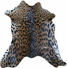 """Jaguar Print Calf Skin Size: Around 35"""" X 30"""" Jaguar Print Mini Cowhide"""