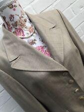 Escada Blazer Jacket Cashmere Silk 38 12 Beige Cream Formal Business Chic