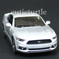 Kinsmart 2015 Ford Mustang GT 5.0 1:38 Diecast Toy Car Silver