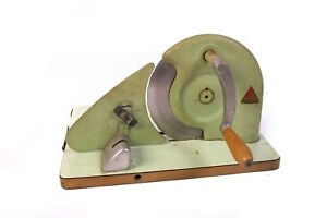 Brunner Brotschneidemaschine Holz Metall Handkurbel Brotschneider Vintage DDR