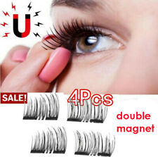 Natura Fashion 4pcs Thick Eye Lashes Double  Magnetic False Eyelashes BS