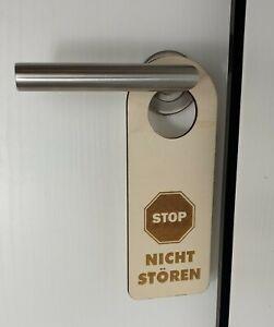 NICHT STÖREN Türanhänger Holzschild Schild STOP WC Kinderzimmer Jugendzimmer