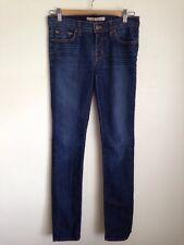 J Brand Jeans Skinny Pencil Leg Dark Denim Moto Blue Size 25 27 SM