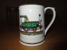 Enesco Coffee Mug Train Steam Locomotive w/ Gold Trim