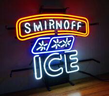 "SMIRNOFF ICE BEER BAR CLUB LAMP POSTER NEON LIGHT SIGN 16"" X 14"" ME207"