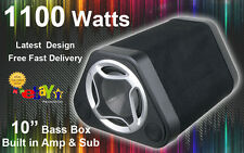 1100 Watt ATTIVO AMPLIFICATO CAR AUDIO SUBWOOFER BASS Box Sub Enclosure Amp AFFARE