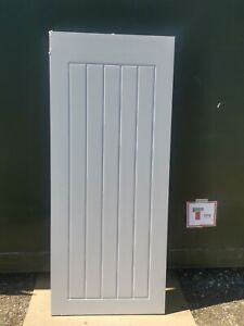 """DFM1970 Howdens Dordogne Smooth Dove Grey 2'9"""" Pre-Finished Int. FD30 Fire Door"""