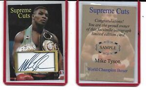 """Iron"" MIKE TYSON Supreme Cuts ACEO World Champion Card w.Facs. auto"