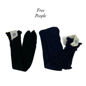 Free People Fishnet Socks NEW One Size Set of 2