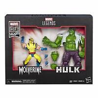 Marvel Comics 80th Anniversary Legends Series Hulk Vs. Wolverine Action Figures
