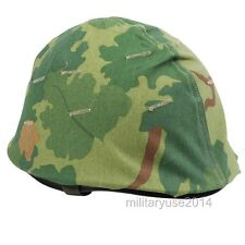 WWII US ARMY M1 HELMET+VIETNAM WAR US MILITARY REVERSIBLE MITCHEL CAMOUFLAGE