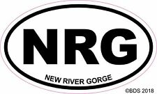 New River Gorge Oval Vinyl Decal Sticker