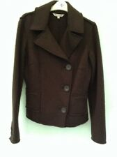 LADIES LONG SLEEVED WOOL JACKET SIZE 10 FROM ROCHA JOHN ROCHA BROWN WITH DETAIL
