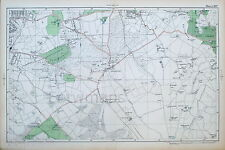LONDON - Antique Map /  Plan - WEST WICKHAM, SHIRLEY, ADDINGTON - BACON, 1910