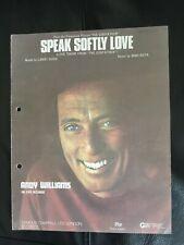 Andy Williams - 'Speak Softly Love' - 1970's Vintage Sheet Music!
