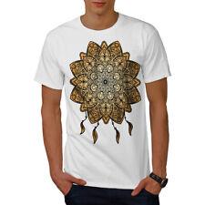 Wellcoda Mandala Yoga Para hombres Camiseta, Camiseta Impresa Diseño Gráfico espiritual