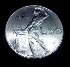 Moneta Coin ITALIA Repubblica Italiana 50 Lire Vulcano 1981