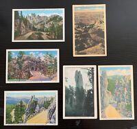Lot of 6 Original Vintage Postcards - South Dakota - Black Hills, Nature's Hand