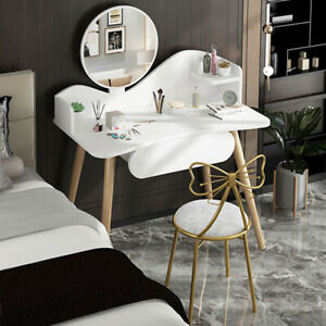 Modern White Scandinavian Modern Dressing Table Makeup Vanity/Home  a Drawer UK