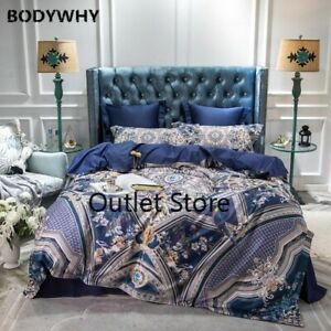 Luxury European Egyptian Cotton Comfortable Bedding Set Cover Bed Sheet/4pcs