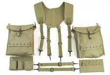 WW2 US Army Combat Medic Equipment SET Field Kit Suspenders Pouches Bag