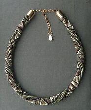 LOOK mozzafiato dettagliato 1.2 CM spessore perline tribali nativo Stile Collana Autunno