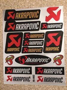 2 Pack Akrapovic Reflective Mx stickers decals graphics Sheet motorcross