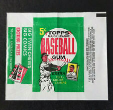 1962 Topps 5 Cents Wax Wrapper Stamps Bazooka Variation No Rips Nice Color Clean