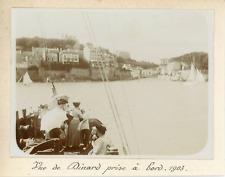 France, Bretagne, Vue de Dinard prise à bord d'un bateau 1903, Vintage citr