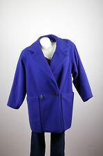 Steve Womens Wool Blue Coat 6 Vintage Winter Jacket USA Made Lined Pockets IGLWU